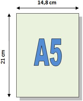 Format de papier A5 – Dimensions